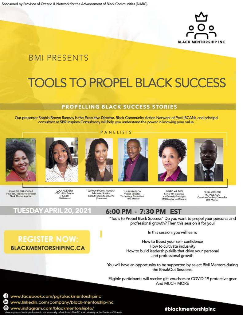 Tools to Propel Black Success poster