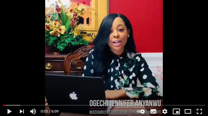 Image of video of Ogechi Jennifer Anyanwu